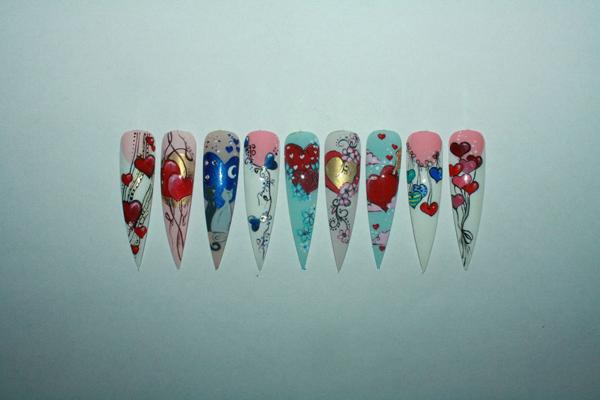 Фото художественной росписи ногтей